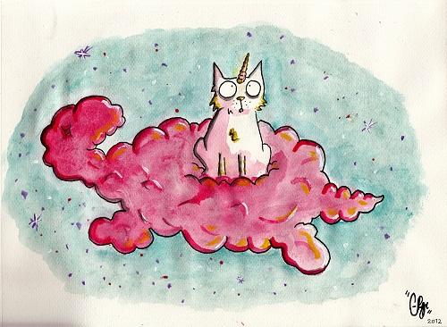 Einhorn-Katze