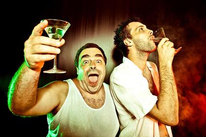 Kneipenwitze - zwei richtige Männer feiern